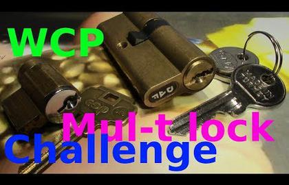 Взлом отмычками Mul-T-Lock   (picking 439) WCP Mul-T lock challenge - picking DAP and esp lock by VDE +funny pin count estimation (That (Время взлома: 4 мин.)